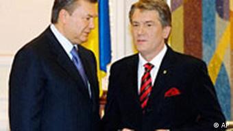 Ukraine Präsident Viktor Juschtschenko und Ministerpräsident Viktor Janukowitsch in Kiew
