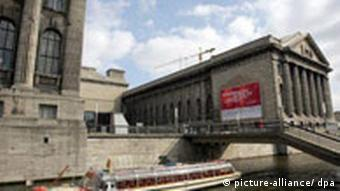 an outside view of Berlin's Pergamon Museum