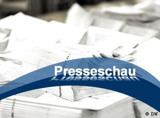 Themenbild Presseschau (Grafik: DW)