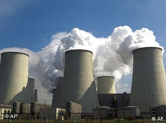 smoke coming out of chimneys at a coal power station