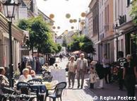 Zona peatonal en Straelen, Alemania.