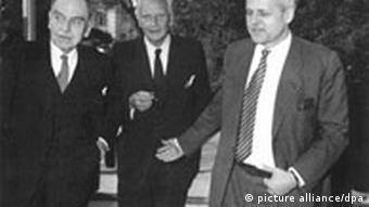 Otto Hahn, Walther Gerlach und Carl Friedrich von Weizsäcker