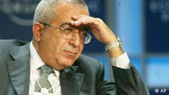 Der palästinensische Finanzminister Salam Fayyad