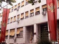 Parlamentsgebäude in  Podgorica, Montenegro (Foto: DW)