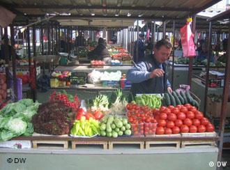 Ein traditioneller Marktstand