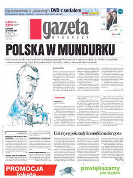 Titelblatt der polnischen Zeitung Gazeta Wyborcza