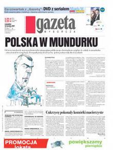 First page of Gazeta Wyborcza