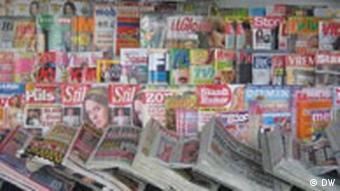 Zeitungskiosk in Serbien (Foto: DW)