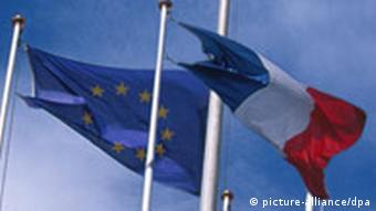 French and EU flags