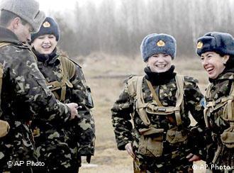 Женщины-военнослужащие украинской армии