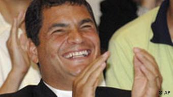 Rafael Correa, 15. April 2007, AP