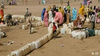 Refugee camp in Darfur