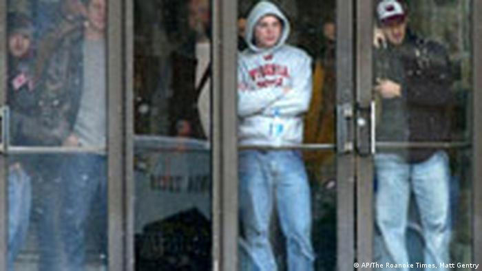 Students on lockdown at the Virginia Tech University (AP/The Roanoke Times, Matt Gentry)