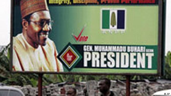 Nigeria Wahlen Präsidentschaftswahlen Plakat