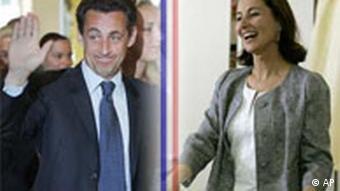 Wahlen in Frankreich 2007 Sarkozy und Royal Symbolbild