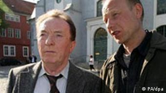 Sodann, left, in his role as Kommissar Ehrlicher in Tatort