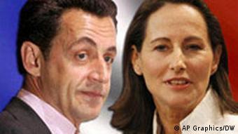 Frankreich Wahlen Präsidentschaftswahlen Kombo Nicolas Sarkozy und Segolene Royal