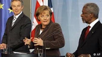 Blair, Merkel, Annan