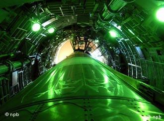 Eine US-amerikanische Atomrakete vom Typ Titan II, Quelle: AP