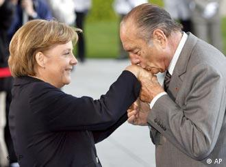 One last gallant hand kiss from president to chancellor