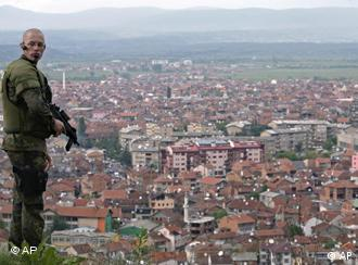 Soldiers under the UN's protectorate mandate have policed Kosovo since 1999