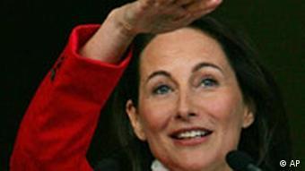 Segolene Royal kurz vor der Präsidentenwahl in Frankreich