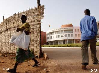Parliament building in Guinea