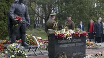 The Soviet war memorial at its new location in Tallinn