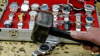Uništavanje krivotvorenih satova