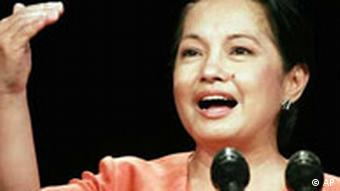 Gloria Macapagal Arroyo, Präsidentin der Philippinen, Quelle: AP