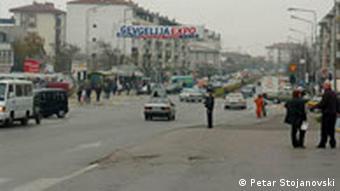 Strasse in Strumica, Mazedonien