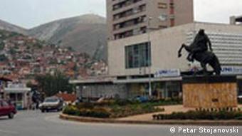Platz in Veles, Mazedonien