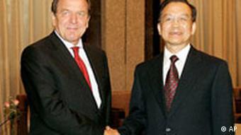 China Deutschland Gerhard Schröder bei Wen Jiabao