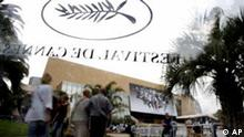 Frankreich Filmfestival in Cannes Kino mit Logo