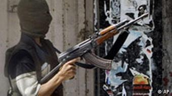 Maskierter Fatah-Anhänger, Foto: AP