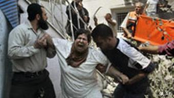 Verletzte nach einem israelischen Luftangriff in Gaza-Stadt, Foto: AP