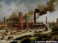 Pintura 'Fábrica no centro de Berlim', Eduard Biermann, 1847