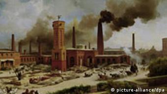 Industrielle Revolution in Deutschland, hier die Berliner Borsig - Werke