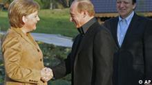 EU-Russland-Gipfel, Merkel mit Putin und Barroso