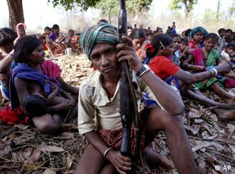 A meeting of tribals and Maoists in Chhattisgarh, the state that is most affected by insurgency
