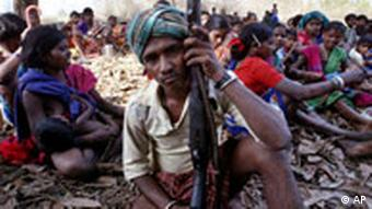 Tribals have become caught in the fight between Naxalites and the Indian army