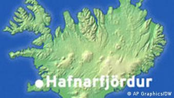 Island auf der Karte