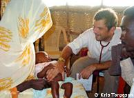 Un cooperante de Médicos sin Fronteras en Darfur.
