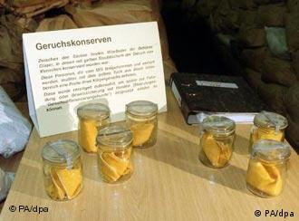 The Stasi usually used a bright yellow dust cloth to collect scent profiles