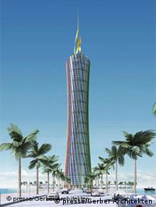 An artist's rendition of the Energy Tower