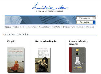 A página do projeto Litrix, já em português
