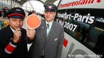 Deutsche Bahn and SNCF conductors