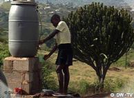 El consumo promedio  europeo: 200 litros de agua al día; el del Tercer Mundo: 10.