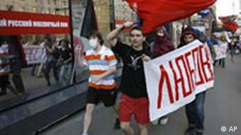 Gay Pride Demonstration in Moskau