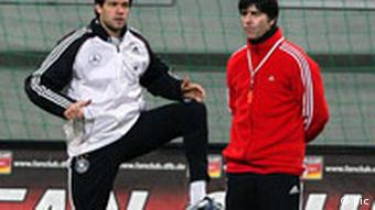 Ballack and Loew